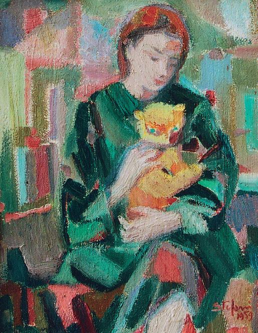 Alma con il gatto, 1959-60