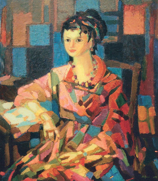 Figura in rosa, 1959