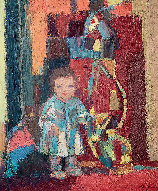 Rosa Carlotta con l'orsacchiotto, 1972