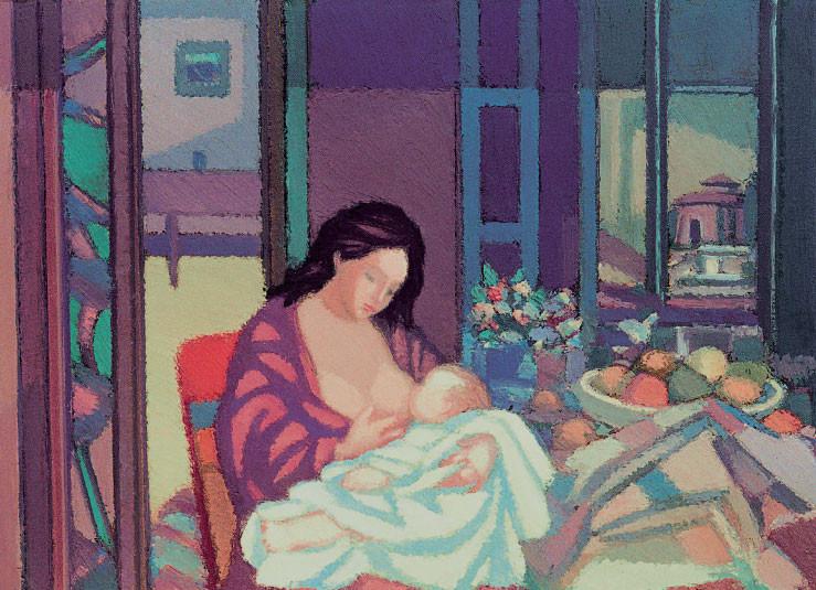 Maternità (Omaggio a Perugia), 1984