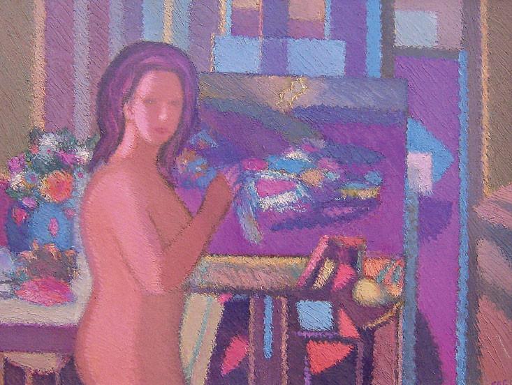 Interno con modella, 2001