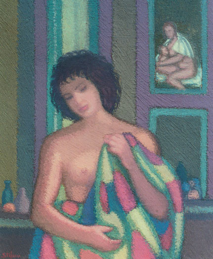 Modella nello studio (omaggio a Giorgione), 2002